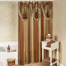 Touch Of Class Shower Curtains Contempo Striped Shower Curtain With Valance