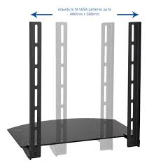 Table For Under Wall Mounted Tv by Mount Sf004 Vivo Under Above Vesa Tv Wall Mount Shelving Bracket
