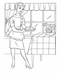 thanksgiving dinner coloring page sheets mom baked an apple pie