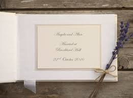 personalised wedding guest book ivory personalised wedding guest book and pen set lace and