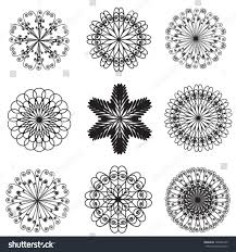 simple radial ornaments set stock vector 168046193