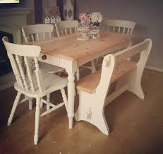 Shabby Chic Table by Stunning Solid Pine Shabby Chic Table Chairs And Bench Pew Farrow