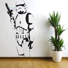 peaceably star wars classic removable wall decals star wars flossy star wars poster large storm trooper vinyl wall sticker wall art silhouette walldecal big mural
