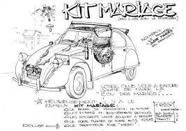 dessin humoristique mariage decoration voiture mariage kit mariage 2cv 1r 2cv tahiti deuche