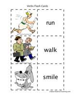 Words Cards Action Verbs Flash Cards Have Fun Teaching