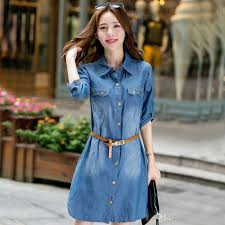 5xl plus size women clothing long sleeve denim dress autumn winter