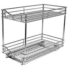 lynk chrome pull out cabinet drawers lynk professional roll out double shelf pull out two tier sliding