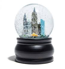 the self contained snowstorm globe and snow