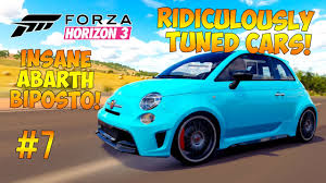 tuned cars forza horizon 3 ridiculous tuned cars 7 crazy abarth biposto