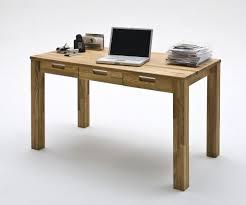 Computertisch Buche Schreibtisch Mit 3 Schubladen Computertisch 135x70 Eiche Massiv