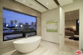 Bathtub Los Angeles Master Bathroom With Exposed Beam U0026 Freestanding Bathtub In Los
