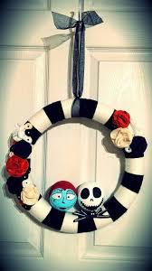 Nightmare Before Christmas Decorations Diy Nightmare Before Christmas Wreath With Jack U0026 Sally Www Facebook