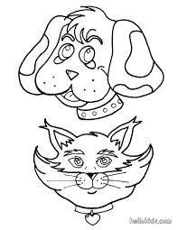 dog and cat coloring pages hellokids com