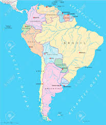 America Del Sur Map by South America Single States Map With Single States Capitals