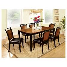 7 pc dining room set sun pine 7pc dining table set wood acacia and black target