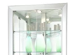 curved corner curio cabinet modern corner curio cabinet light switch with halogen light is