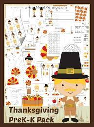 free pre k thanksgiving worksheet pack