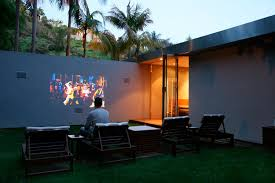 Backyard Outdoor Theater by It Would Be Perfect To Have A Wall Like This To Have People Over