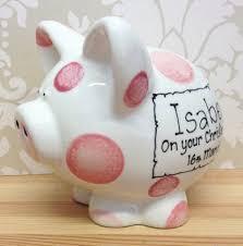Baptism Piggy Bank Personalised Christening Piggy Bank Money Box Various Colours