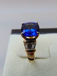 tanzanite diamond ring 14k yellow gold a step back in time