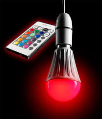 auraglow 10w remote control colour changing led b22 bayonet