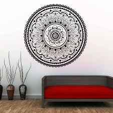 Wall Decals Mandala Ornament Indian by Mandalas Indian Pattern Wall Decals Home Decorative Namaste Yoga
