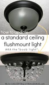 Diy Ceiling Lamps Remodelaholic Update A Dome Ceiling Light With Faceted Crystals