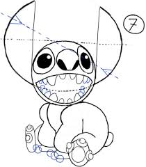 how to draw stitch from lilo and stitch with easy steps drawing