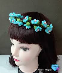 crochet hair band crochet flower hairband free crochet pattern crochet for you