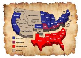 map us states during civil war the history place us civil war 18611865 fictional map of the usa