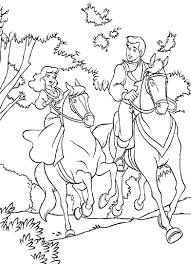 cinderella prince charming horse riding coloring sari
