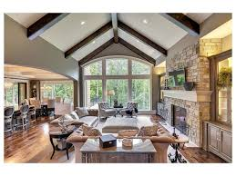 Vaulted Ceiling Tv Mount by Cozy Living Room Designs With Exposed Wooden Beams Living Room