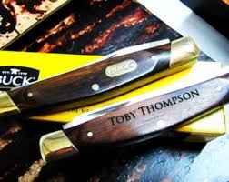 engraved buck knives personalized buck knife groomsmen gifts engraved wooden