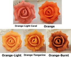 flower hair pins orange hair flowers orange flower wedding hair pins