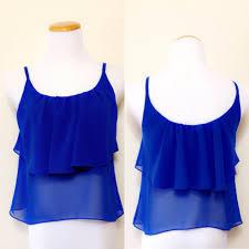 royal blue blouse top tank top chiffon blouse royal blue s m l style by apple