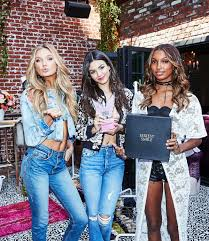 lyrica anderson and meagan good victoria justice at victoria u0027s secret u0027what is u0027 list event in