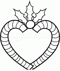 how to draw a candy cane heart step by step christmas stuff