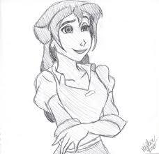 disney tarzan u0027s jane sketch drawing