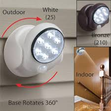 battery operated security lights 360 degree sensor lights battery operated cordless led light l