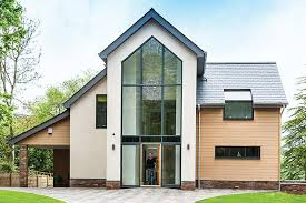 a contemporary four bedroom eco home built with structural