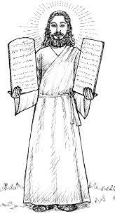 printable ten commandments coloring book