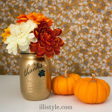 easy diy gold thanksgiving jar craft illistyle