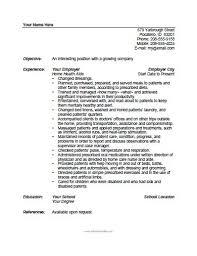 Caregiver Resume Samples Elderly by Home Health Aide Resume Nurse Aide Resume Examples 8 Sample Cna