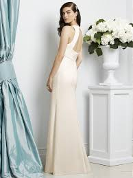 dessy bridesmaids dessy 2938 bridesmaid dress crepe empire waistline
