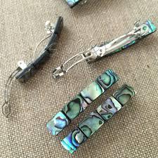 barrette hair clip hair barrettes abalone barrette hair clip by sweetlifespirit