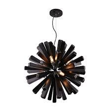 Black Pendant Light by Burst 10 Light 720mm Black Pendant Feature Lights