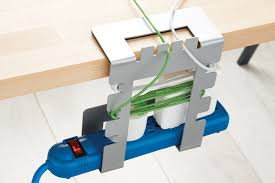 How To Organize Cables On Desk by Hanging Cable Loft Cord Organizer The Container Store