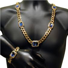 blue diamond necklace gem images Lab diamond bracelet miami cuban link cobalt blue gemstone jpg