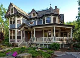 eotic asymmetrical american victorian home design style with one eotic asymmetrical american victorian home design style with one storey porch white column stand