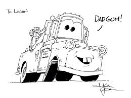 mater coloring page tow mater from cars 3 coloring page free